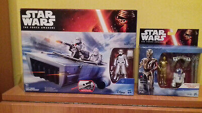 Star Wars The Force Awakens Snowspeeder-Pack Figuras R2D2 Y C3Po
