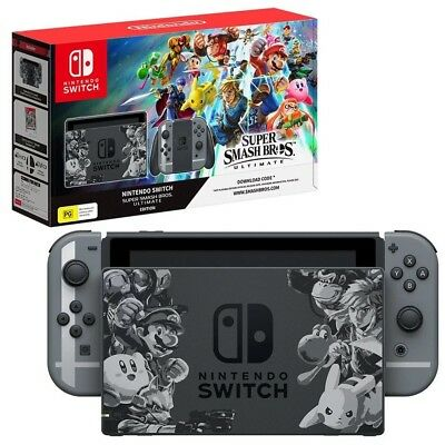 Brand New Nintendo Switch Super Smash Bros Ultimate Console Bundle -NEVER OPENED