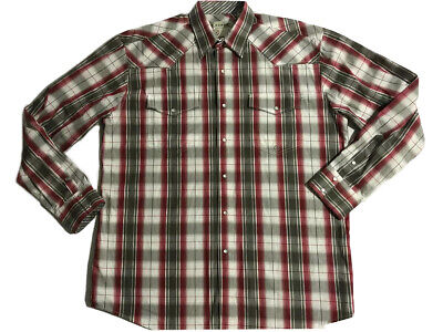 e0c368cc ROPER WESTERN SHIRT New Mens Size XL Red Paisley Pearl Snap Buttons ...