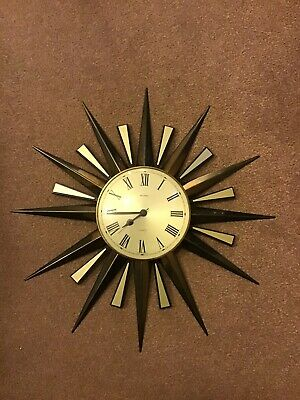 Vintage Large Metamec Sunburst Clock