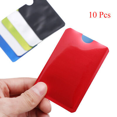 10pcs*For RFID Secure tector Blocking ID Credit Card Sleeve Holder Case-Skin