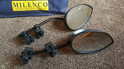 Milenco aero caravan towing mirrors pair flat glass with carry bag