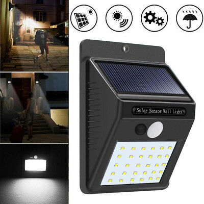 30 LED Solar Power PIR Motion Sensor Garden Security Lamp Waterproof Patio Light