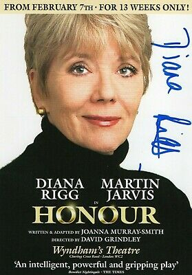 DIANA RIGG The Avengers Genuine Authentic Signed Theatre Flyer UACC COA