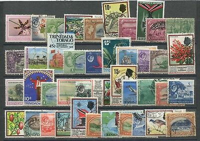 "TRINIDAD & TOBAGO -  40  Stamps  ""  ALL   DIFFERENT  "" /"