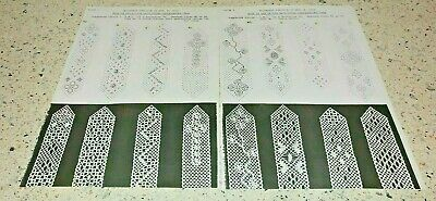 Lot 20 -  Collection of 8 Bookmark  Lace Guild Patterns  for Bobbin Lace Making