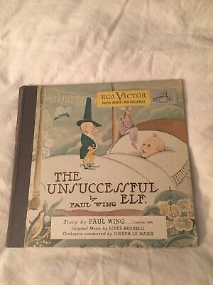 RCA VIctor The Unsuccessful Elf 78RPM record set from 1946