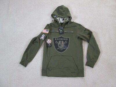 best website d7654 f136e OAKLAND RAIDERS NIKE Salute to Service Therma Hoodie Lg NWT ...