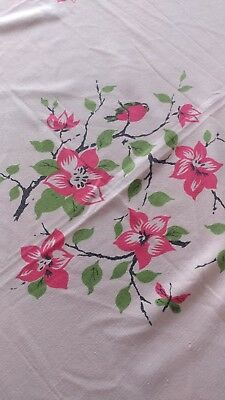 Vintage Cherry Apple Blossom Tablecloth