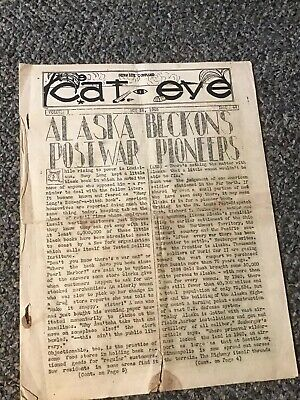 WWII Service Command 1945 Newsletter The Cat Eye Alaska Pioneers Free Shipping