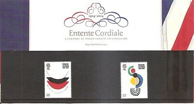 GB 2004 Entente Cordiale Presentation Pack No 358 MNH and FDC