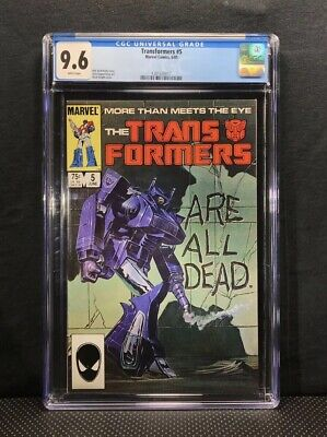 Transformers #5 CGC 9.6 Marvel 1986 Marvel Death Issue Comic:New Frame