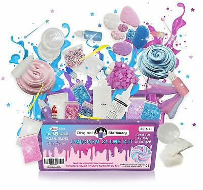 🚛Fast Shipping! {NEW} Unicorn Slime Kit Supplies Fish Bowl Foam Cloud Jelly