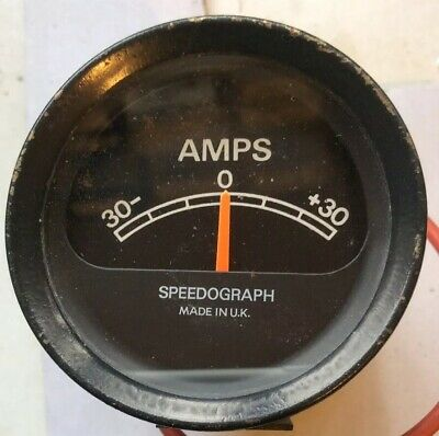 Rare Speedograph 30/30 50 mm Ammeter For Classic Car