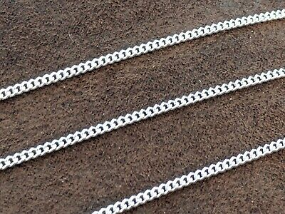925 Sterling Silver Curb Cuban Mens Womens Girls Boys Chain Necklace 24""