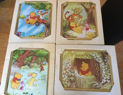 4 X Vintage? Winnie The Pooh Hanging Picture Set BNIB Lovely Set Ready To Go!