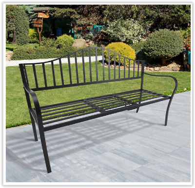 Magnificent Outdoor Metal Frame Bench Patio Park Garden Seating Foldable Gmtry Best Dining Table And Chair Ideas Images Gmtryco
