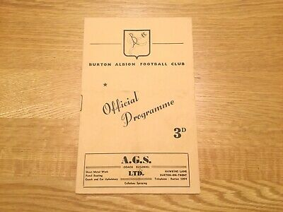 1957/8 Burton Albion v Aston Villa   Birmingham League Match