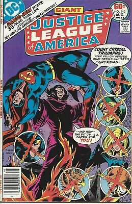 Justice League of America #145. Aug 1977. DC. GD/VG.