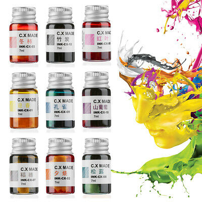 -12Colors Ink For Fountain Dip Pen Calligraphy Writing Painting Graffiti Sightly
