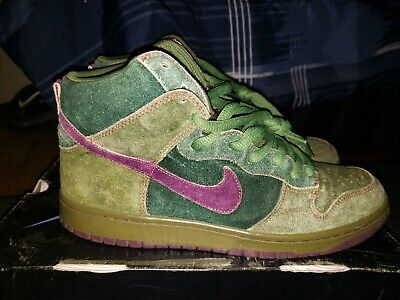 5f89539c70ef NIKE DUNK HIGH PREMIUM SB SKUNK 313171 300 sz9.5 in replacement Box 2010.