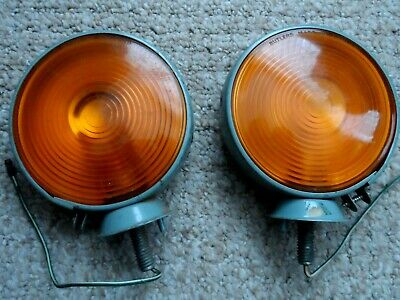 A Pair Of Butlers 1518 1950 / 60's Lollipop Indicator Side Lamps Ford  Bedford