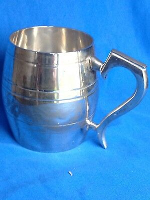 Vintage Or Antique White Metal Barrel-design Tankard