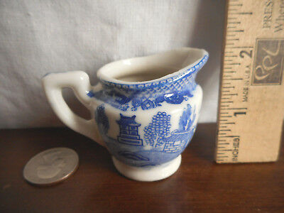 Vintage Miniature Creamer Occupied Japan 1947-1952 Blue White Marked No chips