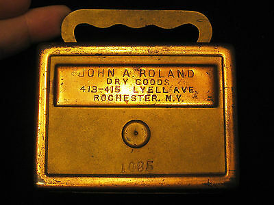 John A. Roland, Dry Goods, Rochester, N.Y., Vintage Advertising Still Bank / Mon
