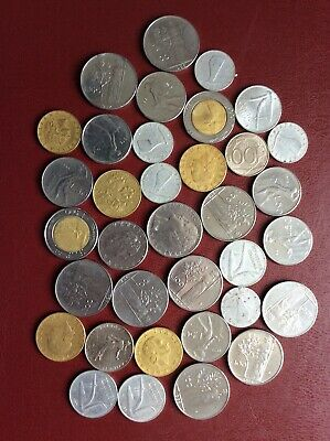 Mixed Lot of 35 Italian Coins. Various Condition