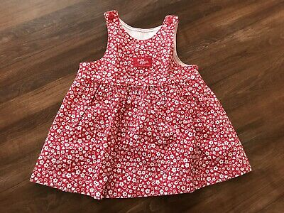 Vintage Osh Kosh Floral Print Dress 18 Mos Flowers Hearts Excellent Condition!