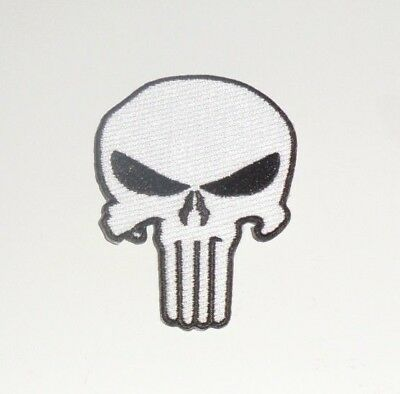 The Punisher Skull Embroidered iron-on Patch 3""