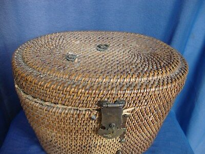 Chinese C19th tea basket, no contents, with damage / missing