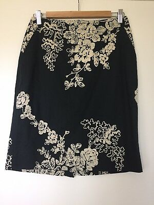 3e6668333 NWT J. Crew Factory Pencil Skirt in Embroidered Floral, Sz 4, style 77636