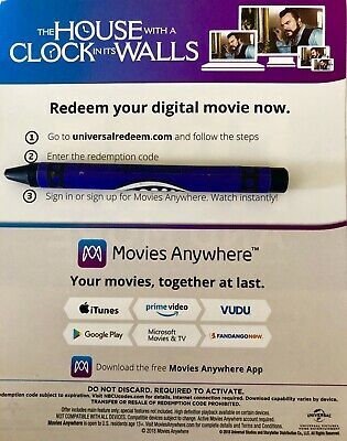 The House with a Clock in its Walls: DIGITAL HD CODE ONLY (No Blu-ray or DVD)