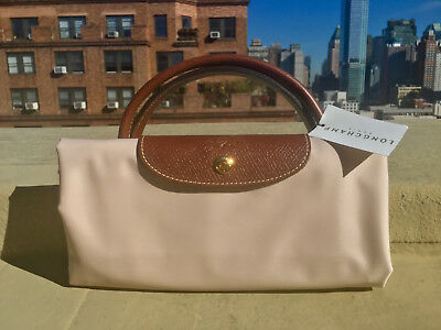 SZ LARGE! (Retail  145) Longchamp Le Pliage Cream Nylon Tote Handbag - NEW 0710e170ee87b