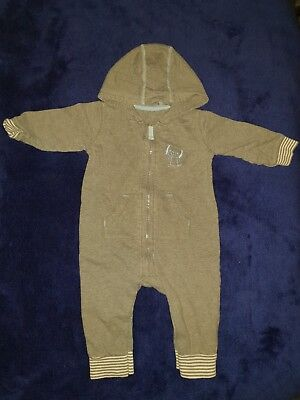 Boys 6-9 Months Playsuit jumpsuit outfit hooded Babygrow Sleepsuit Dogs Next Day
