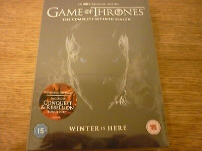Game of Thrones  Complete 7th Season  DVD + Conquest and Rebellion BN