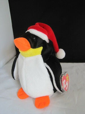 NWT Ty Beanie Babies Christmas ZERO Penguin 1998 MINT w/Tags & Protector