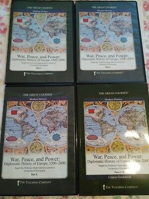 War Peace & Power A Diplomatic History of Europe 1500-2000 Great Courses DVD VGC