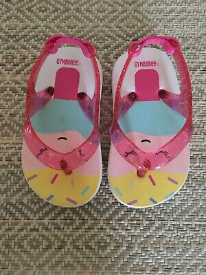 23e597112b07 CRAZY8 BABY GIRL Pineapple Flip Flops Size 3-4 -  5.00
