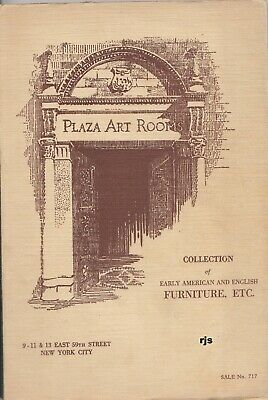 Collection Early American English Furniture Etc Plaza Art Rooms New York 1929