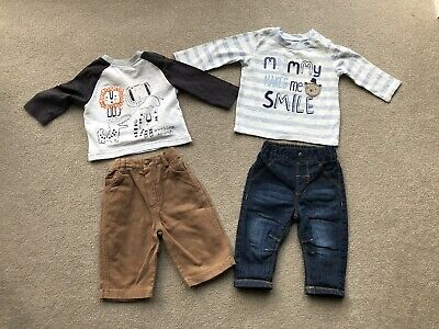 Baby Boys Clothes 3-6 Months Bundle Long Sleeved Tops And Trousers Mothercare