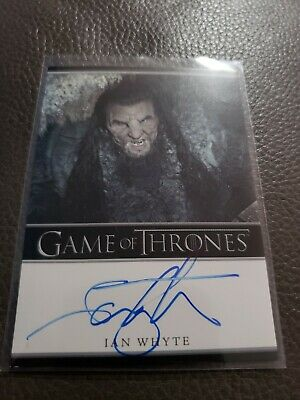 Game of Thrones Season 5 Ian Whyte as Wun Wun Bordered Auto Autograph