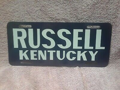 """Vintage Russell Kentucky License Plate 12"""" x 5 1/4"""""""