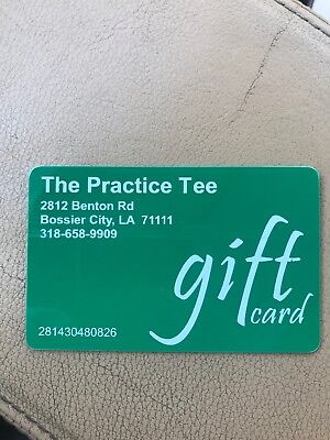$50 Golf, Driver, The Practice Tee Gift Card, Bossier City