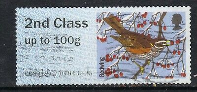 GB 2015 QE2 2nd Class Post & Go Winter Fur Redwing SG  FS 143 ( C721)