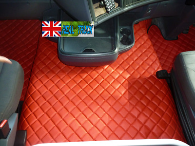 Truck Eco Leather Floor Set Fit Scania R Streamline Automatic 2013-2017 Red