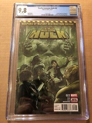Totally Awesome Hulk #22 CGC 9.8 White Pages 1st Weapon H