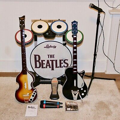THE BEATLES ROCK Band Bundle PS3 + Extras inc  Wireless Singstar Mics +  Games